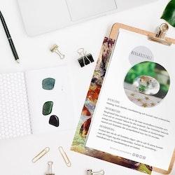 Bergkristall, infokort med egenskaper