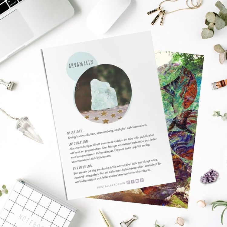 Akvamarin, infokort med egenskaper