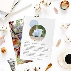 Blå Kalcit, infokort med egenskaper