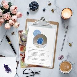 Blå Safir, infokort med egenskaper