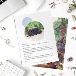 Sodalit, infokort med egenskaper
