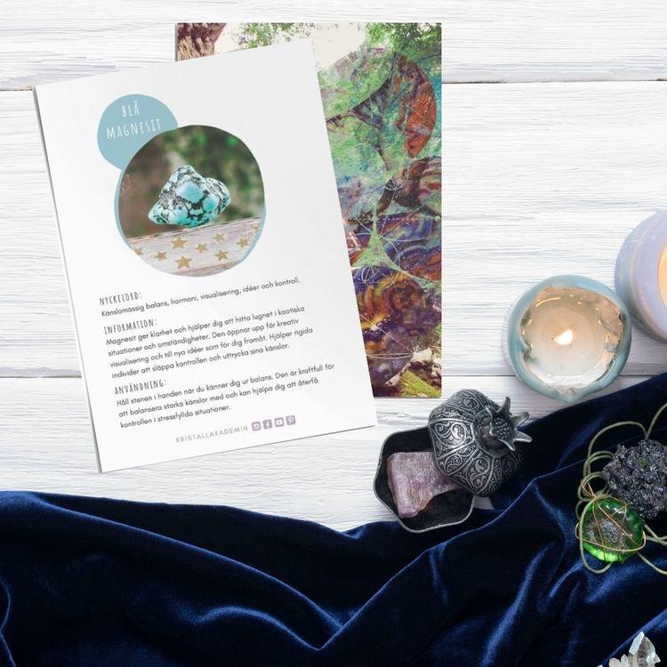 Blå Magnesit, infokort med egenskaper