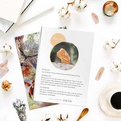 Bärnsten, infokort med egenskaper