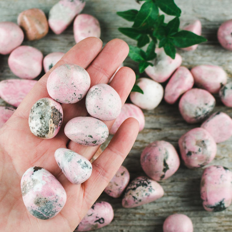 Rodokrosit, trumlade stenar