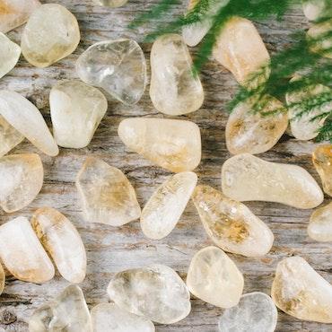 Citrin, trumlade stenar
