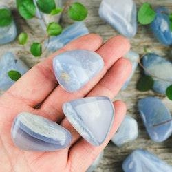 Blå Bandagat, trumlade stenar