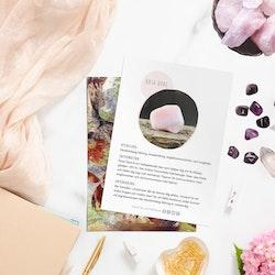 Rosa Opal, infokort med egenskaper