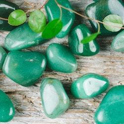 Grön Aventurin, trumlade stenar