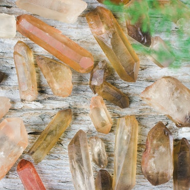 Citrin naturliga kristaller