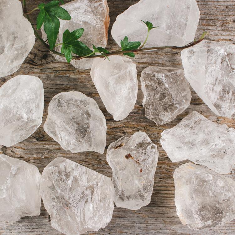 Bergkristall, rå bitar