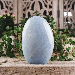 Blå Kalcit, polerat stenblock