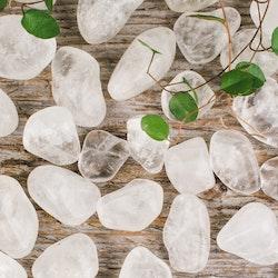 Bergkristall B, trumlade stenar
