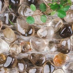 Citrin naturlig, trumlade stenar
