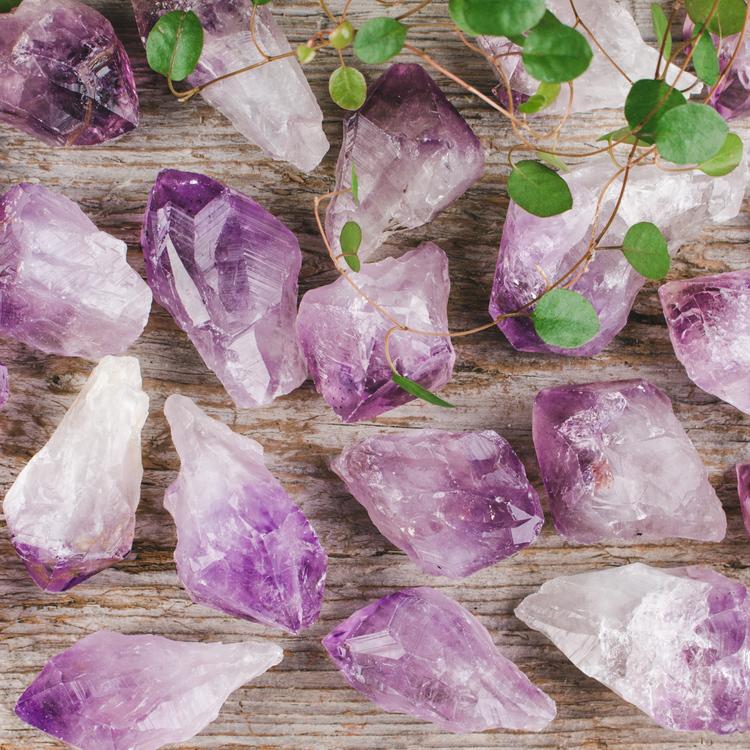 Ametist, naturlig kristall
