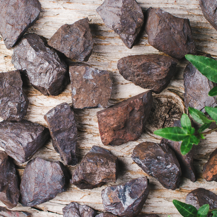 Hematit, rå stenar