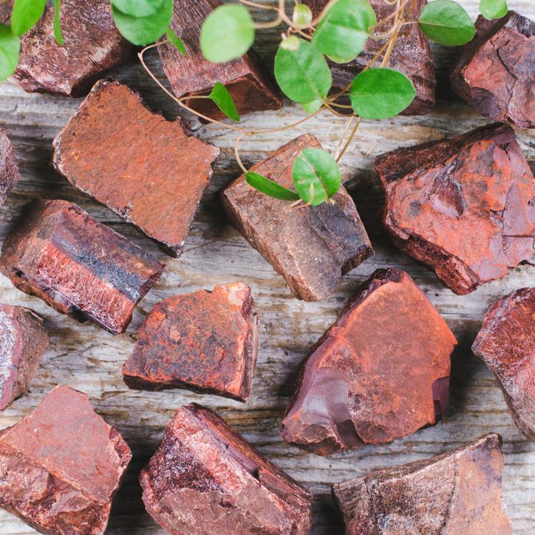 Oxöga, rå stenar