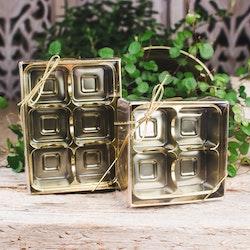 Guldask för kristaller