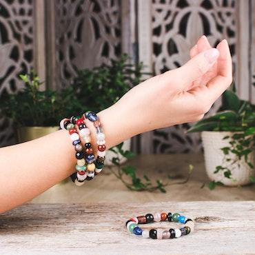 Armband, mix 8-10 mm