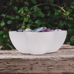 Vit Selenit, blomformad skål