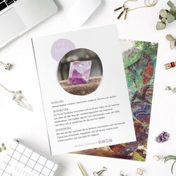 Lila Fluorit, infokort med egenskaper