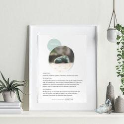 Smaragd, infokort med egenskaper
