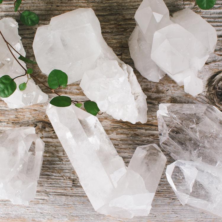 Bergkristall, naturliga kluster