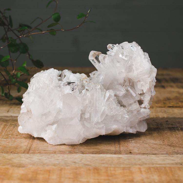 Bergkristall, stora naturliga kluster