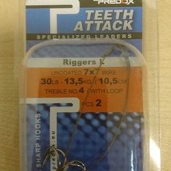 7 X 7 Stinger rig  2-Pack Predox #4