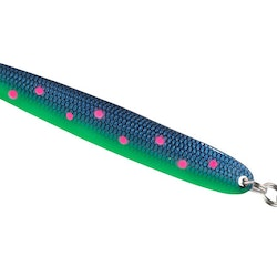 Colonel Z Seatrout II Blue With Pink spots med Mustad krok UV-Active
