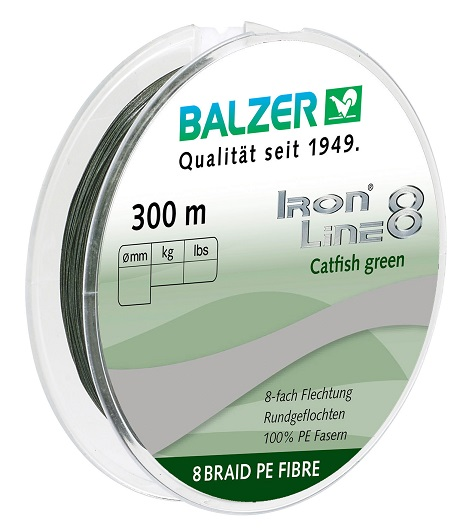 Iron Line 8 Catfish Green 300M