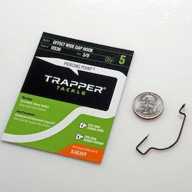 Trapper Hooks Offset Wide Gap Hook – X Heavy Gauge