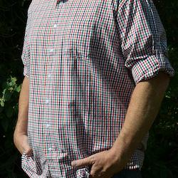 Skjorta Herr Rödrutig