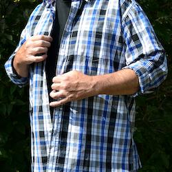 Skjorta Herr Blårutig