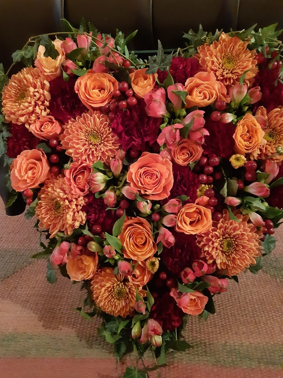 Blomster hjärtan Min kärlek