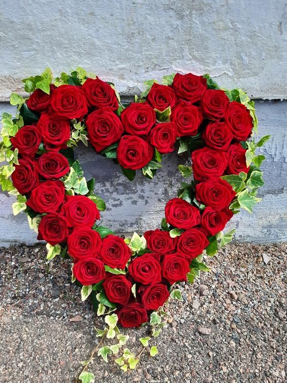 Blomsterhjärta saknad