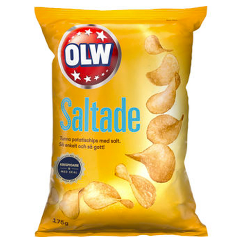 OLW Lättsaltade Chips 175g