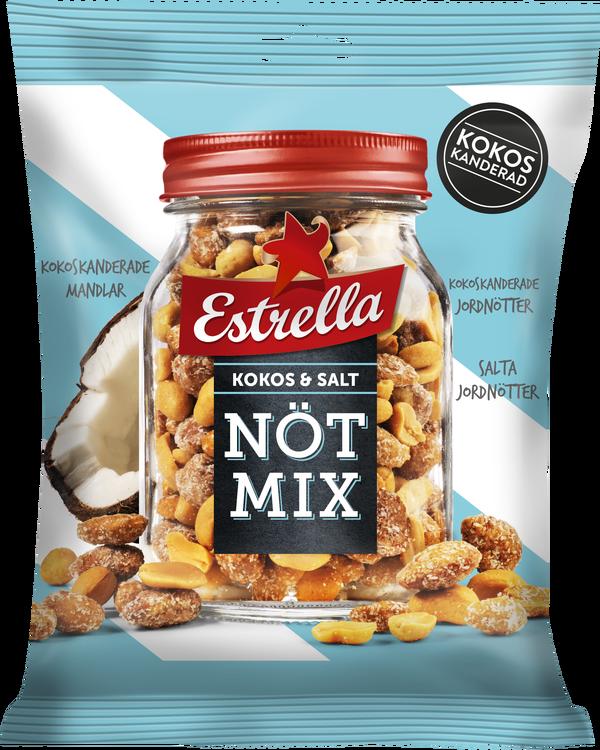 Estrella Nötmix Kokos & Salt 175g