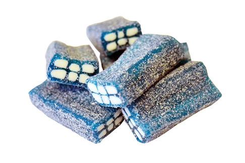 Sockrad Tegelsten Blåbär