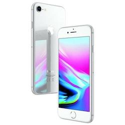 iPhone 8 64GB Silver - BEG - GOTT SKICK - OLÅST
