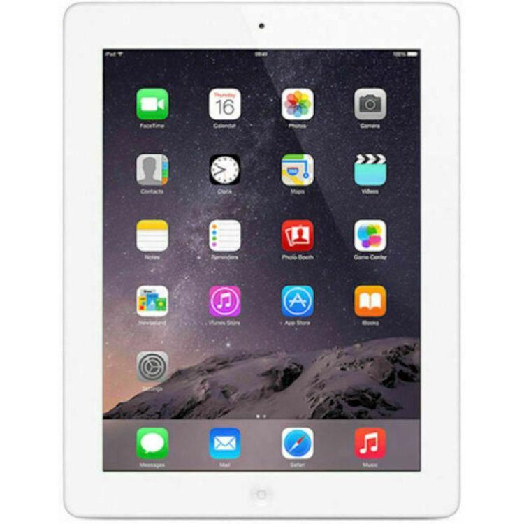 iPad 4 16GB Wi-Fi & 4G/CELLULAR Vit - BEG - GOTT SKICK