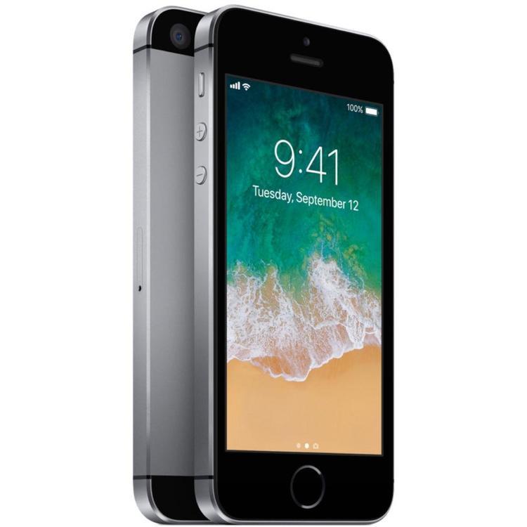 iPhone SE 16GB Space Gray - BEG - GOTT SKICK - OPERATÖRSLÅST TRE