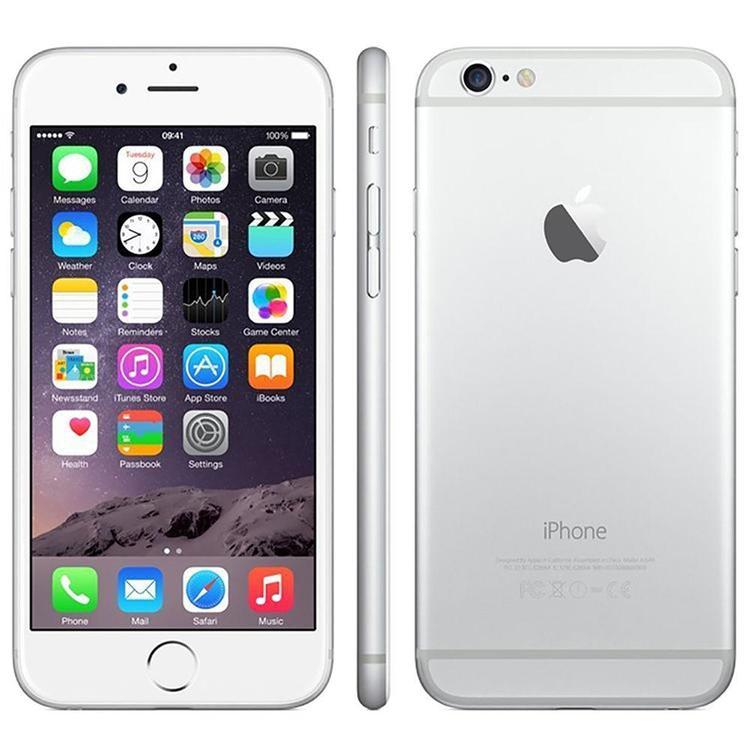 iPhone 6 16GB Silver - BEG - GOTT SKICK - OLÅST
