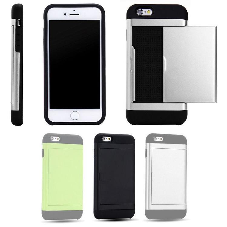 iPhone 6 / 6s - Mjukt Skal med Korthållare