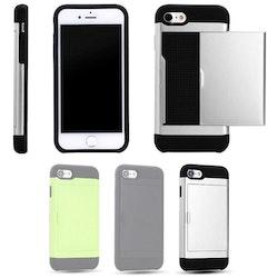 iPhone 7 / 8 - Mjukt Skal med Korthållare
