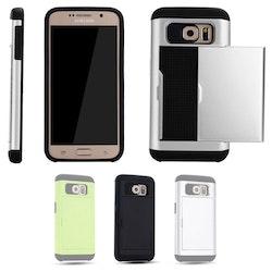Samsung Galaxy S6 - Mjukt Skal med Korthållare