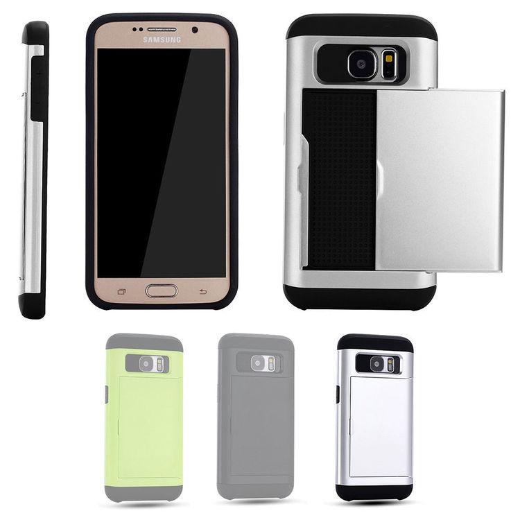 Samsung Galaxy S7 - Mjukt Skal med Korthållare