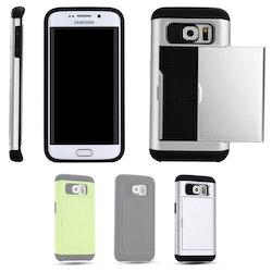 Samsung Galaxy S6 Edge - Mjukt Skal med Korthållare