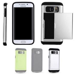 Samsung Galaxy S7 Edge - Mjukt Skal med Korthållare