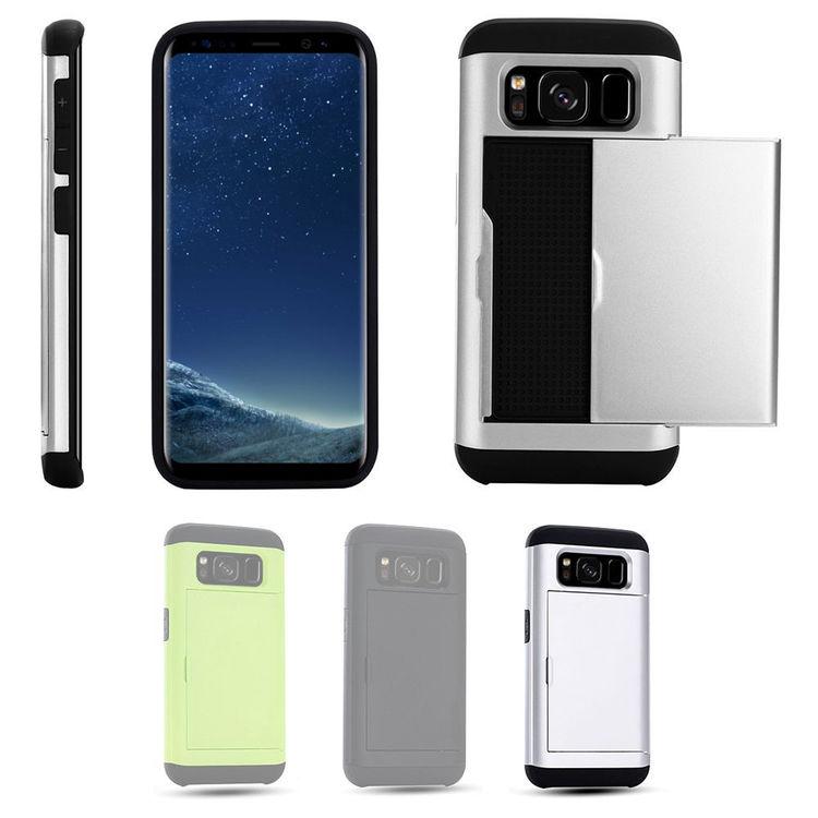 Samsung Galaxy S8 - Mjukt Skal med Korthållare