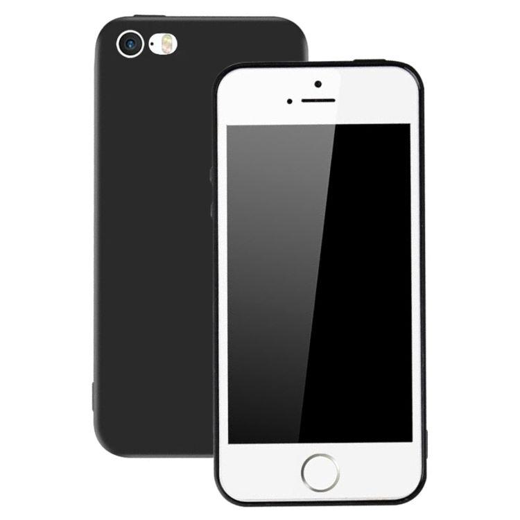 iPhone 5 / 5s - Ultratunt Matt Svart Mjukt skal